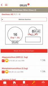 ERLUS Profi-App Schornstein Screenshot