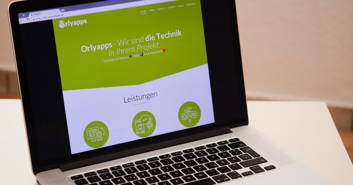 Die neue Orlyapps Webseite