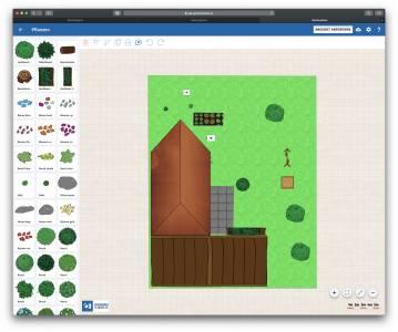 Der online Gartenplaner Screenshot