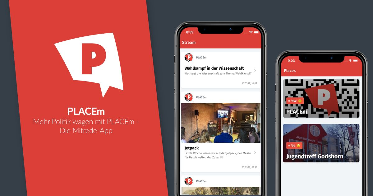 Mehr Politik wagen mit PLACEm – Die Mitrede-App