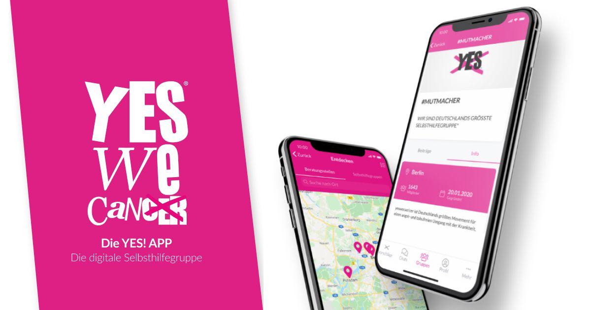 Digitale Selbsthilfe für Krebserkrankte – mit der YES!-App